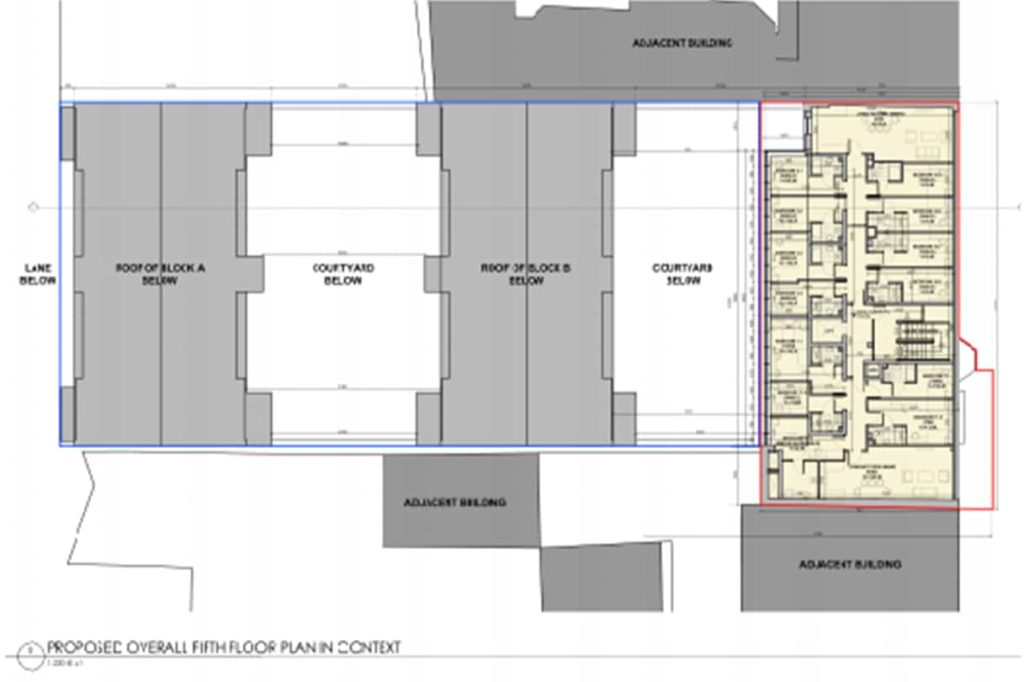 Blackhall Place Fifth Floor Plans by Douglas Wallace Dublin Architects