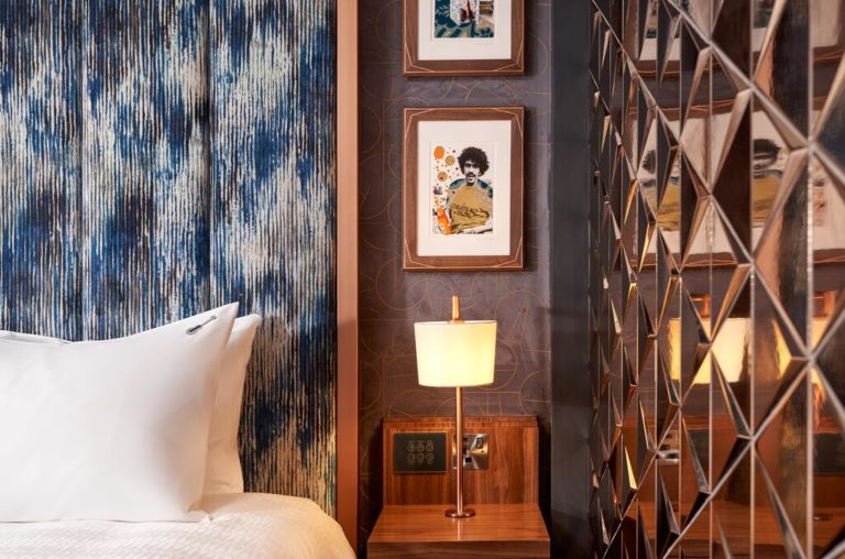 Hardrock Hotel in Dublin bedroom features designed by Interior Designers and Architects at Douglas Wallace